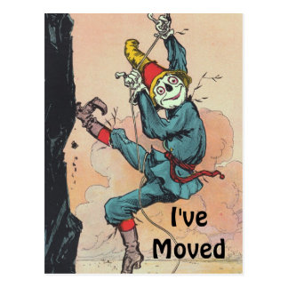 Postcard Vintage Scarecrow Oz Moved New Address PC