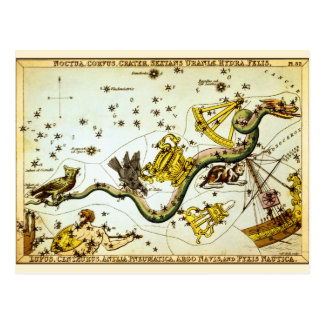 Postcard Vintage Star Map - Constellation Atlas