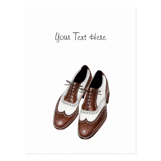 Postcard Vintage Swing Era Wingtip Oxford Shoes PC