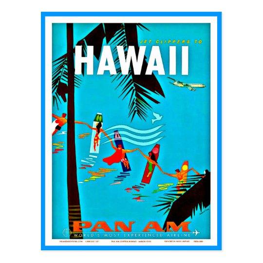 Postcard-Vintage Travel-Hawaii 5 Postcard