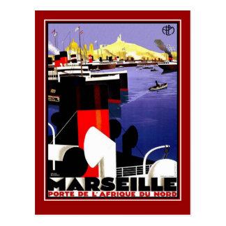 Postcard Vintage Travel Marseille Post Card