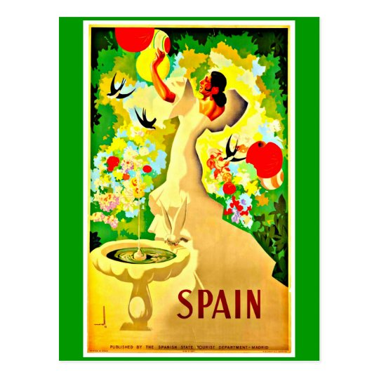 Postcard-Vintage Travel-Spain 10 Postcard