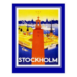 Postcard Vintage Travel Stockholm Post Cards