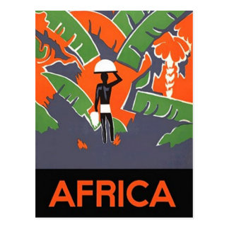 Postcard Vintage Travel Trip Ad Africa Vacation