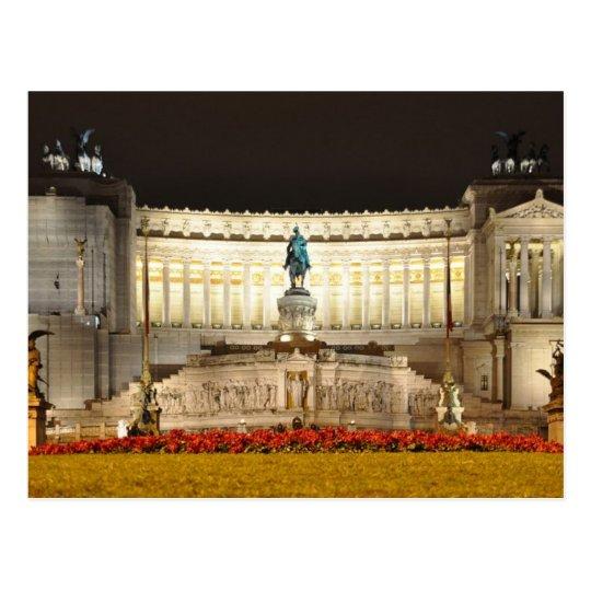 Postcard Vittorio Emanuele II Monument, Rome Italy