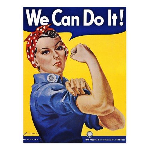 Postcard: We Can Do It  - Vintage Poster Image Postcard