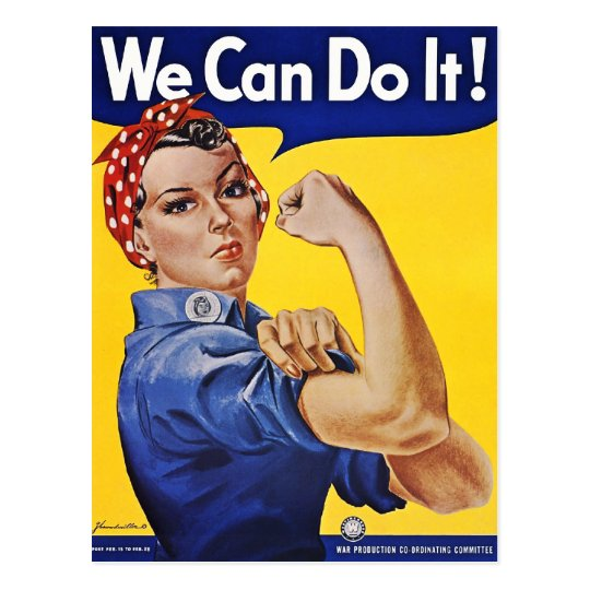 Postcard: We Can Do It  - Vintage Poster Image Postcard