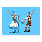 Postcard Welcome Oktoberfest Couple