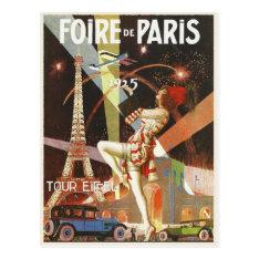 Postcard with 1920's Paris Art Deco Print at Zazzle