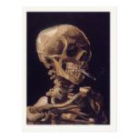 Postcard With A Smoking Skull