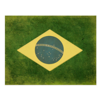 Postcard with Cool Brazilian Flag