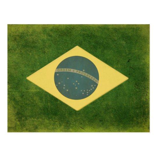 Postcard with Cool Brazilian Flag