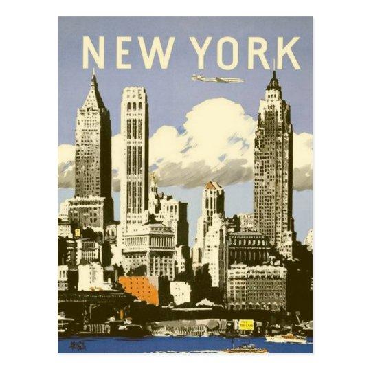 Postcard with Cool Vintage New York Print