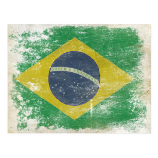 Postcard with Dirty Flag from Brazil
