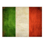 Postcard with Dirty Vintage Italian Flag