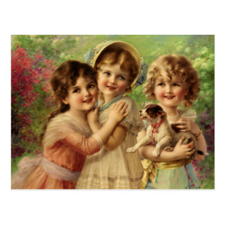 Postcard With Emile Vernon Painting