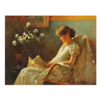 Postcard With Eva Dora Cowdery Painting