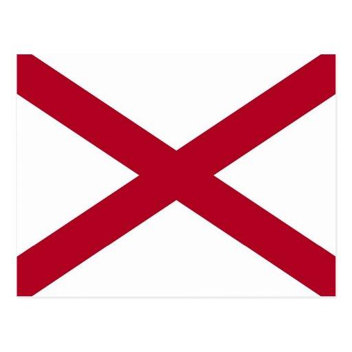 Postcard with Flag of Alabama State - USA