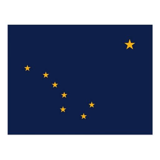 Postcard with Flag of Alaska State - USA