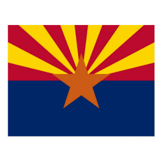 Postcard with Flag of Arizona State - USA