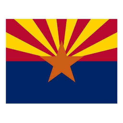 Postcard with Flag of Arizona State - USA