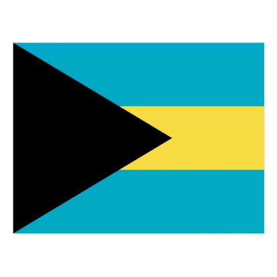 Postcard with Flag of Bahamas