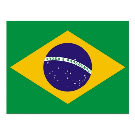 Postcard with Flag of Brazil