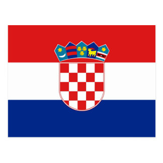 Postcard with Flag of Croatia