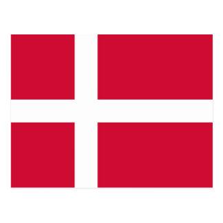 Postcard with Flag of Denmark