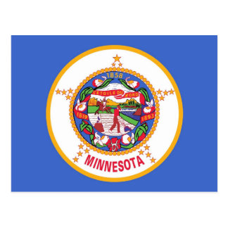 Postcard with Flag of Minnesota State - USA