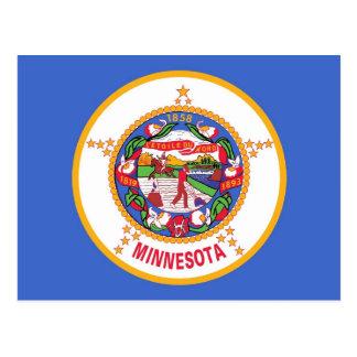 Postcard with Flag of Minnesota State - USA
