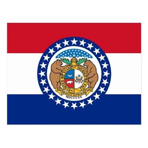 Postcard with Flag of Missouri State - USA