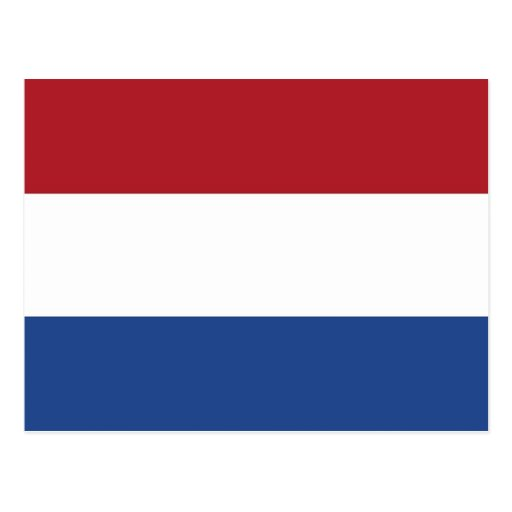 Postcard with Flag of Netherlands