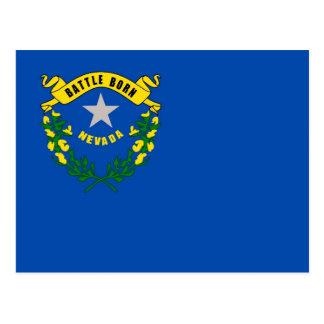 Postcard with Flag of Nevada State - USA