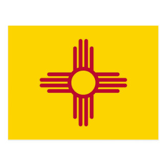 Postcard with Flag of New Mexico State - USA