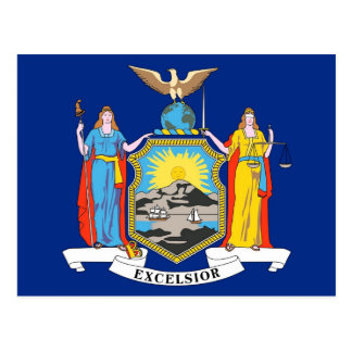 Postcard with Flag of New York State - USA