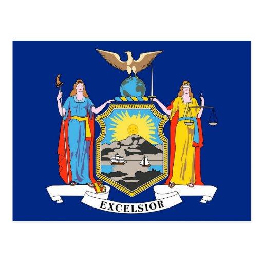 Postcard with Flag of New York State - USA