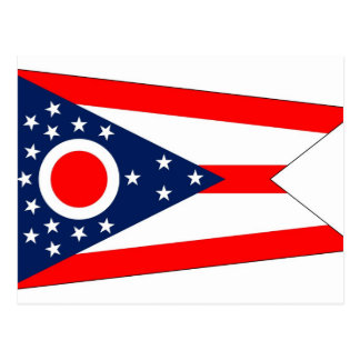Postcard with Flag of Ohio State - USA