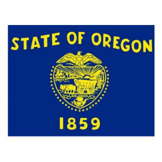 Postcard with Flag of Oregon State - USA