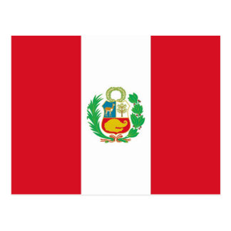 Postcard with Flag of Peru