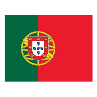 Postcard with Flag of Portugal