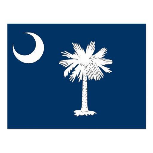 Postcard with Flag of South Carolina State - USA