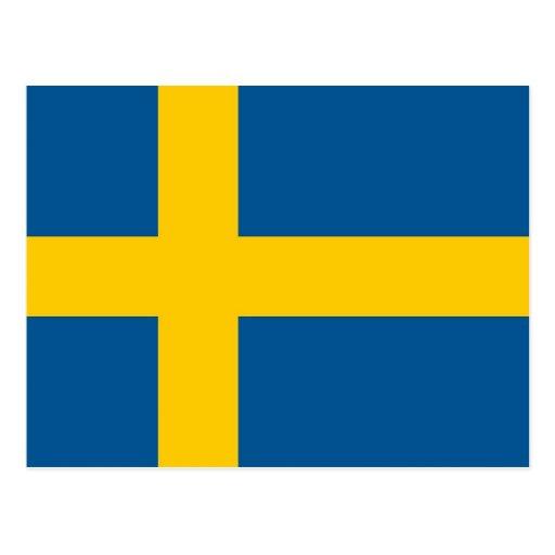 Postcard with Flag of Sweden