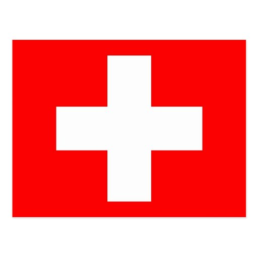 Postcard with Flag of Switzerland