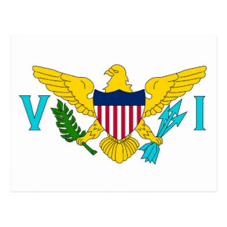 Postcard with Flag of Virgin Islands- USA