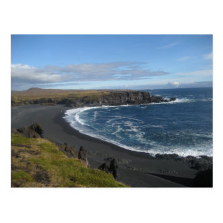 Postcard With Icelandic Beach Picture