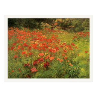 Postcard with John Ottis Adams Painting