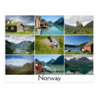 Postcard with landscapes and the text: 'Norway'
