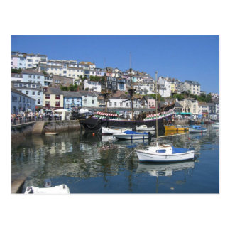 Postcard With Picture of Brixham Harbour