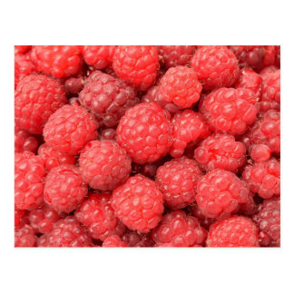 Postcard with raspberries